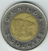 Canada, Elizabeth II, Two Dollars 1996, VF, WB6709
